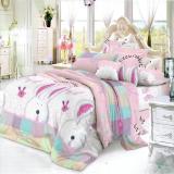 Harga Nyenyak Sprei Single Motif White Bunny 120X200 Cm Online Dki Jakarta