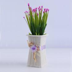 O Bisa Pakai Kembali Plastik Vas Bunga Vas Dekorasi Rumah Dirancang Halus Ungu Asli