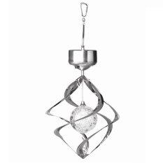 Oasis Wind Spinner Solar Light - Silver