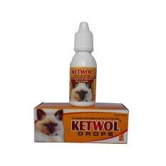 Obat Hewan Vitamin Bulu Kucing Ketwol Drops