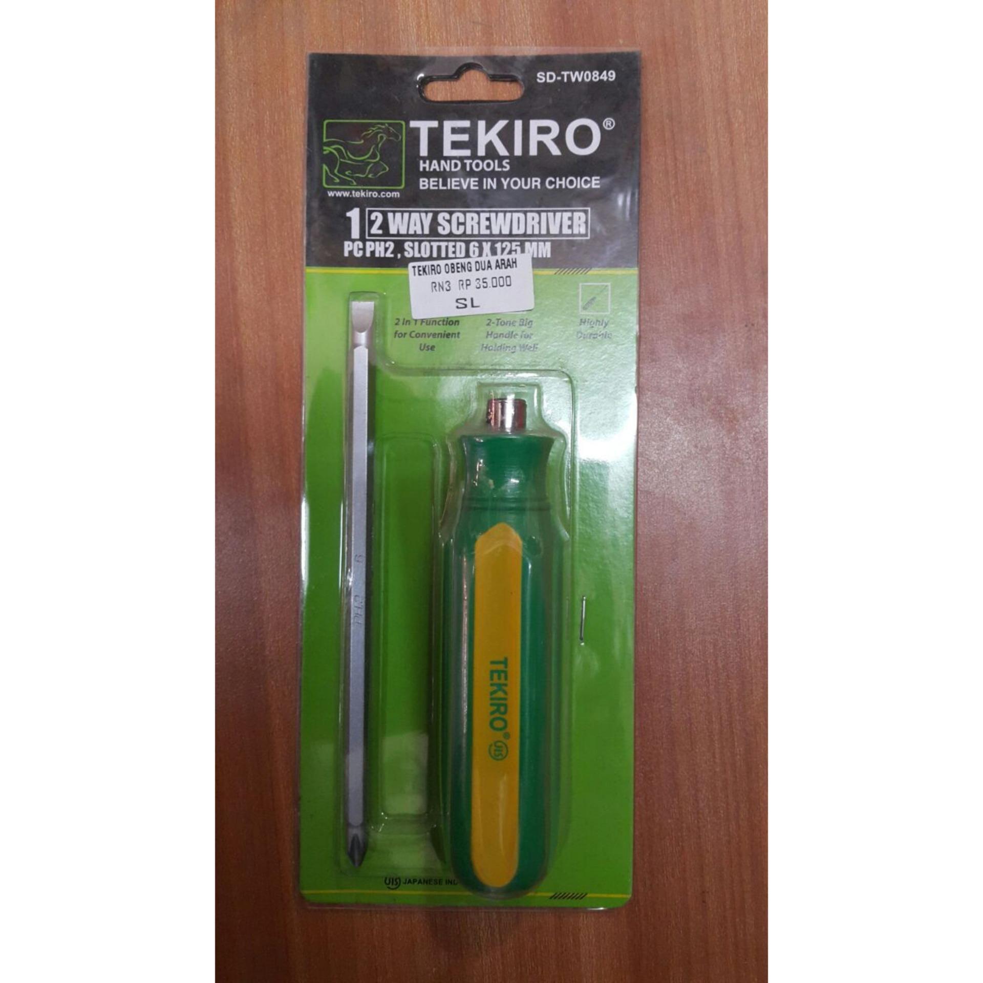 Tekiro Obeng Kristal Ph00 X 50 Mm 25 Obeng Plus Obengkembang Source · Pencarian Termurah Obeng Tekiro 2 Way Screwdriver Arah Bolak Balik Japan Technology ...
