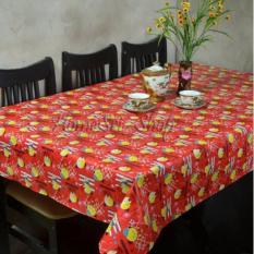 OBRAL MURAH !!! Taplak Meja Makan Plastik  Perlak  6 Kursi 150X180cm