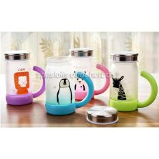 Toko Oem 1 Set Cangkir Gelas Mug Cantik Lucu Motif Binatang 300Ml Termurah