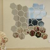 Oem Modern 12 Buah 3D Hexagon Lukisan Cermin Dibetulkan Wall Sticker Stiker Dekorasi Kamar Rumah Promo Beli 1 Gratis 1