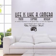 Yang Dapat Dilepas OEM Hidup Ini Seperti Sebuah Kamera Diseduh Sendiri Stiker Dinding Mural Kamar Dekorasi Rumah