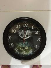 Obral Ogana Clock Jam Dinding Gambar Nuansa Islamic Kaligrafi Love Murah