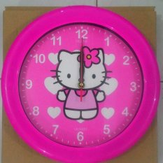 Jual Ogana Jam Dinding Bulat Hello Kitty Love Termurah