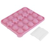 Jual Oh 20 Lollipop Pop 4 Pola Cetakan Kue Talam Silikon Coklat Non Stick Baking Pink