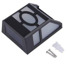 O 2 LED Tenaga Surya Lampu Sensor Cahaya For Dinding Pagar Taman Rumah Tangga Jalan Halaman