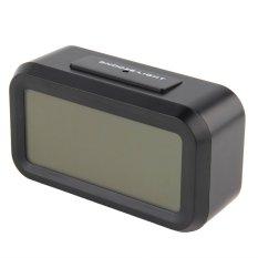 Jual Oh Elektronik Digital Alarm Clock Led Lampu Latar Waktu Dengan Kalender Termometer Hitam Oem