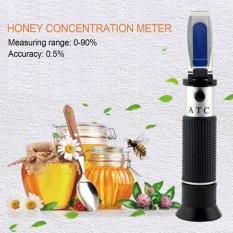OH LYT-390 Desain Genggam Portabel 0-90 Honey Sugar Solusi Brix Refractometer Hitam & Silver-Intl