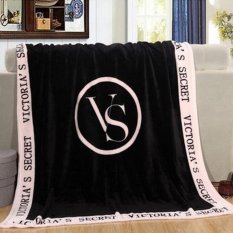 OH Portable Blanket Fleece Kain Penutup Selimut Di Sofa Bed Car Plaids Bedspread Hitam-Intl