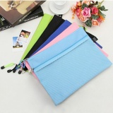 Katalog Oh Solid Warna Double Layer Kain Oxford A4 Zipper Kertas Tahan Air File Bag Acak Intl Oem Terbaru