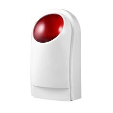 OH Wired Home Security Sound Light Strobe Siren Keselamatan & Fire Alarm Sistem CW32 Putih & Merah-Intl