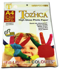 OHOME Glossy Paper A4 20 Sheets Photo Printing Kertas Foto 180 g - MS