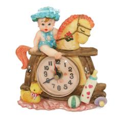 Toko Ohome Jam 3D Vintage Clock Keramik Poly Stone Baby Doll Patung Hadiah Kado Decor Ev Spj 3929 Ohome