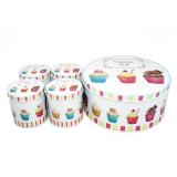 Toko Ohome Kotak Penyimpanan Dapur Multifungsi Cupcake Storage Isi 5 An Vb0297 A Set Terdekat