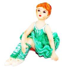 OHOME Pajangan 3D Vintage Keramik Poly Stone Ballet Dancer Green Hadiah Kado Decor - EV-SP-3728D