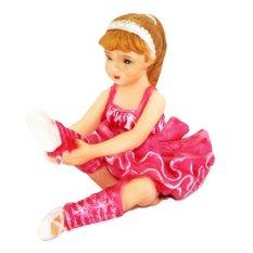 OHOME Pajangan 3D Vintage Keramik Poly Stone Ballet Dancer Pink Hadiah Kado Decor - EV-