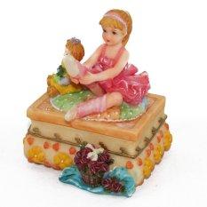 OHOME Pajangan 3D Vintage Keramik Poly Stone Girl Ballet Dancer Hadiah Kado Decor - EV-SP-3903-B