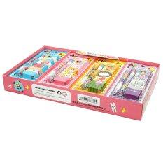 Spesifikasi Ohome Stationery Set Box Isi 16 Alat Tulis Sekolah Pensil Serutan Penghapus Zz Ms Bbl8015K Merk Ohome