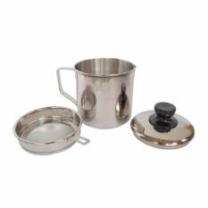 Oil Pot Tempat Minyak Goreng 12cm Saringan Stainless Mirip Shuma