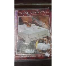 Oleno Home Tablecloth Pvc Embossed Soft Vinyl Taplak Meja Persegi Panjang Dekorasi Meja Renda Bordir Putih Murah