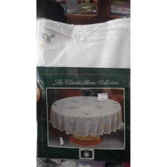 Pencari Harga Oleno Home- Taplak Meja Bulat Dekorasi Meja Renda Bordir Putih terbaik murah - Hanya Rp129.960