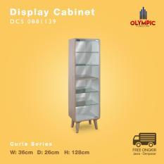 Olympic Curla Series Display Cabinet Small - Rak Pajangan Kecil