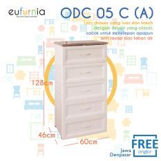 Eufurnia Olymplast Classic Drawer Cabinet Laci 5 Susun ODC 05-C (A)