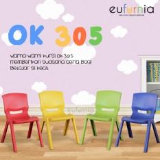 Kursi Anak Plastik Eufurnia Olymplast OK 305 /Merah / 100% FREE ONGKIR JAWA BALI SULAWESI