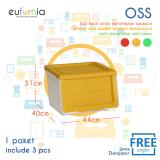 Toko Eufurnia Olymplast Storage Solution Tempat Penyimpanan Oss Kuning 3 Pcs Dekat Sini