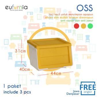 Beli sekarang Rak Susun / Tempat Penyimpanan OSS Eufurnia Olymplast Storage Solution / Kuning / 3 Pcs / 100% FREE ONGKIR JAWA DENPASAR terbaik murah - Hanya ...