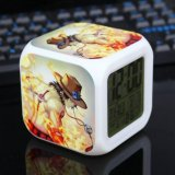 One Piece Alarm Clock Digital Klokken Electronic Desk Watch Wake Up Light Plastic Led 7 Color Intl Asli