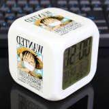 Beli One Piece Jam Alarm Digital Klokken Elektronik Jam Meja Wake Up Lampu Plastik Dipimpin 7 Warna Intl Kredit