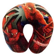 Harga Onlan Bantal Leher Anak Motif Karakter Spiderman Super Hero Bahan Halus Dan Lembut Red Fullset Murah