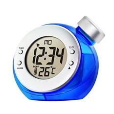 Ooplm Homeliving Sihir Air Didukung Lingkungan Termometer LCD Jam Alarm Pajangan-Intl