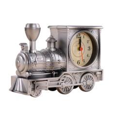 Opoopv GX Kartun Lokomotif Kereta Jam Alarm Antik Mesin Designtable Dekorasi Meja (Perunggu)-