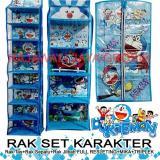 Harga Larissa D Organizer Rak Gantung Karakter Set 3 In 1 Full Resleting Tas Sepatu Jilbab Doraemon Biru Paling Murah