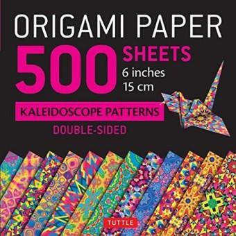 Kertas Origami 500 Lembar Pola Kaleidoskop 6 (15 Cm): Tuttle Kertas Origami: Berkualitas Tinggi Origami Lembar Dicetak dengan 12 Desain Berbeda: Petunjuk ...