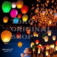Original Lampu Lampion Lentera Balon Terbang Multiwarna 5 Pcs