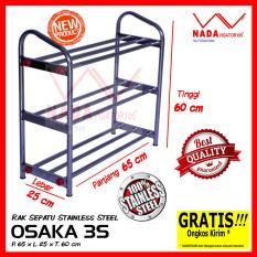 OSAKA Rak Sepatu Sandal 100% stainless steel 3 Susun