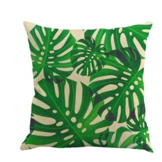 Oscar Store Leaf Pinggang Sarung Bantal Katun Linen Bantal Penutup Sofa Bantal Dekorasi Rumah-Internasional