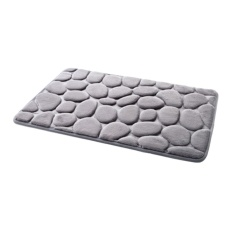 Oscar Toko Praktis Berkualitas Tinggi Hot Jual 40x60 Cm 3D Batu Nonslip Carpet Shower Lantai Pebble Flanel Kamar Mandi Bath Karpet-Internasional