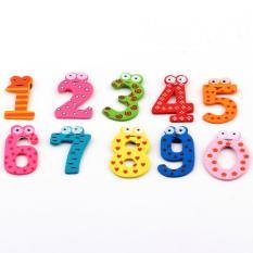 OSMAN 10 Pcs Magnet Kulkas Kayu Pendidikan Belajar Mainan Bayi Lucu Anak Hadiah Natal