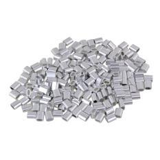 Diskon Oval Tali Kawat Aluminium Klip Ferrule Clamp M2 Set 200 Sliver Oem Tiongkok