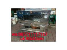 oven gas kue stainlis uk 90x55x70cm+ thermometer
