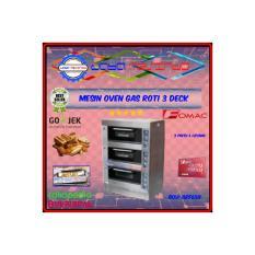 Oven gas roti kue pemanggang 3 deck fomac