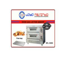 Oven roti gas getra 2 deck 4 loyang