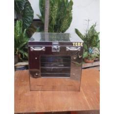 TEBE - Oven Tangkring Stainless Oven Kompor Hemat Listrik (Gas) - Free Loyang 3 Pcs